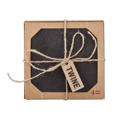 Twine Country Home Square Slate Coasters | Set of 4