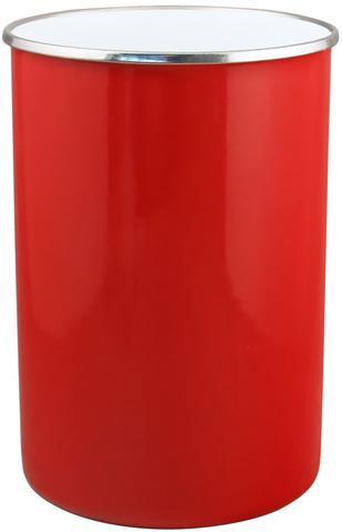 Enamel Utensil Holder in Red