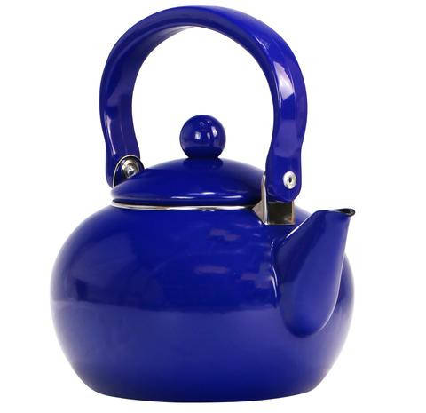 Indigo Enamel Tea Kettle