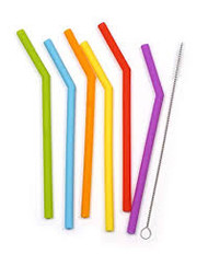 Silicone Short Straws - Set of 6