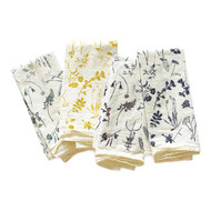Flour Sack Napkins - Mixed Wildflowers, Set of 4