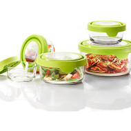 Glass Storage Food Container - 7 Cup