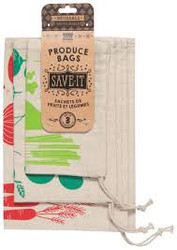 100% Cotton Produce Bags - Set of 3