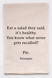 Funny Dish Towel - Team Pie