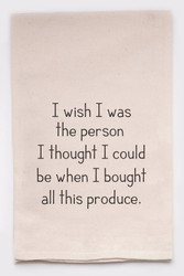 Funny Dish Towel - Produce Person