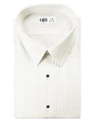 Enzo Ivory Laydown Collar Tuxedo Shirt - Men's X-Large