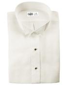 Lucca Ivory Wingtip Collar Tuxedo Shirt - Men's Large