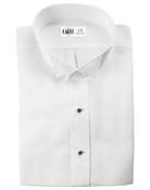 Lucca White Wingtip Collar Tuxedo Shirt - Men's Medium