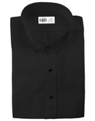 Lucca Black Wingtip Collar Tuxedo Shirt - Men's Medium