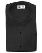 Dante Black Wingtip Collar Tuxedo Shirt - Men's Large