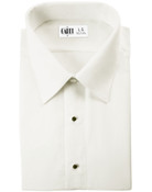 Como Ivory Laydown Collar Tuxedo Shirt - Boy's Medium