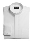 Men's Mandarin Collar Tuxedo Shirt Non Pleated Fly Front