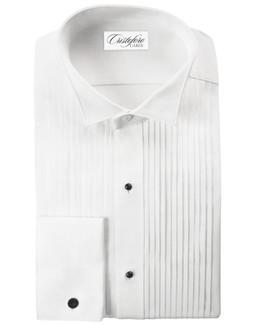 "Verona Laydown Tuxedo Shirt by Cristoforo Cardi - 19 1/2"" Neck"