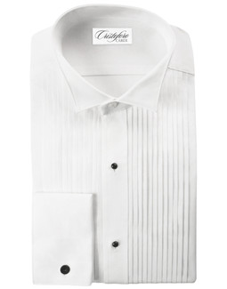"Verona Laydown Tuxedo Shirt by Cristoforo Cardi - 19"" Neck"