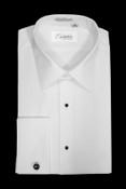 Cristoforo Cardi White Cotton Laydown (Bari) Tuxedo Shirt - No Pleats