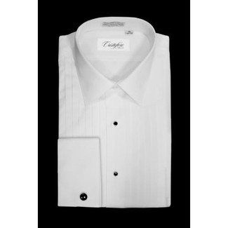 Laydown Collar Tuxedo Shirt by Cristoforo Cardi - 14 1/2 Neck