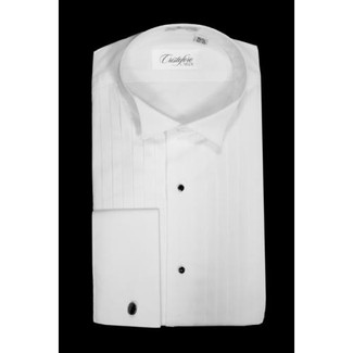 "Wing Collar Tuxedo Shirt by Cristoforo Cardi - 14 1/2"" Neck"