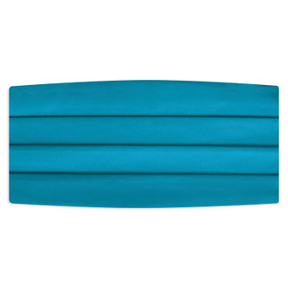 Satin Carribian Blue Cummerbund
