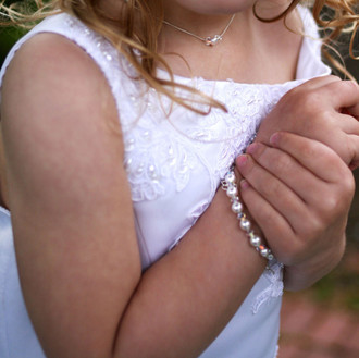Flower Girl Pearl & Clear Bracelet