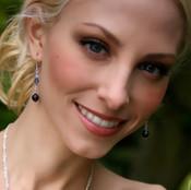 Crystal Dangle Earrings shown in Sterling Silver Orchid