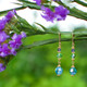 Crystal Dangle Earrings shown in 18K Gold Vermeil Serenity