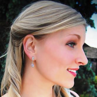 Clear Crystal Post Earrings