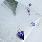 Wild Heart Necklace in Tanzanite. Shown with Flower Girl Crystal Bracelet in Tanzanite.