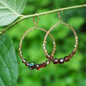 Infinity Hoop Earrings in 18k Gold Vermeil Browns
