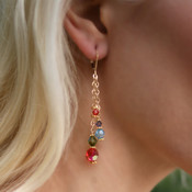 Chain Dangle Earrings in Garden