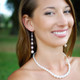 Petite Marilyn Necklace in Sterling Silver shown with the Marilyn Dangle Earrings