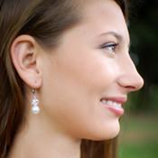 Marilyn Drop Earrings in Sterling Silver