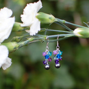 Hummingbird Cluster Earrings