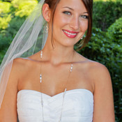 Romance Long Necklace in 18k Gold Vermeil, shown with Romance Cluster Earrings