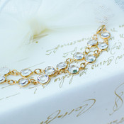 Channel Set Bracelet shown in Gold Crystal (Clear)