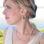 Nicole Necklace. Shown with Pearl Rondelle Earrings in Sterling Silver.