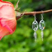 Roxie Earrings shown in Sterling Silver Crystal (Clear)