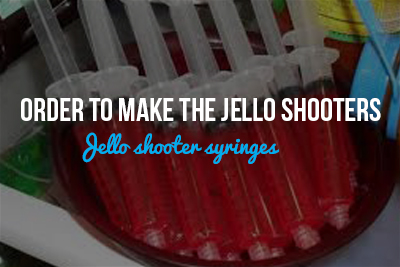 Jello shooter syringes