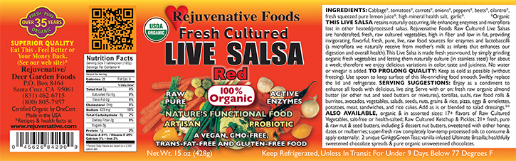 Fresh Organic label Pure Probiotic Cultured Raw Live Enzyme Red Salsa Tomatoes Fermented Vegetables In Glass