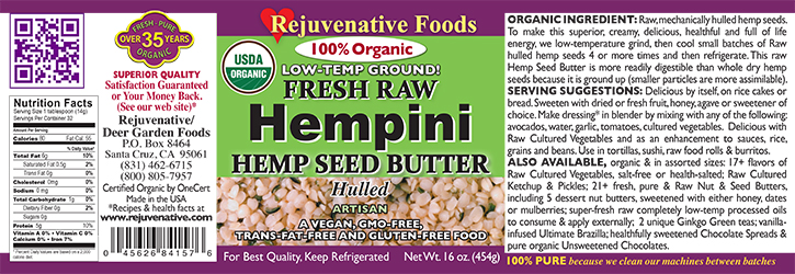 Fresh Raw Hempseed Butter Organic Hempini label Pure|glass jar|Low Temp|creamy smooth digestible|Plastic free||satisfaction guarantee||high protein|8|amino acids|