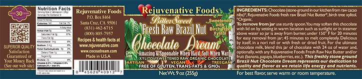  Stone Ground  in our kitchen label Organic except Xylitol Raw Bittersweet Pure Fresh Dairy Free  Brazil Nut like Mexican Chocolate Dream  GMO Free Antioxidants Crunchy