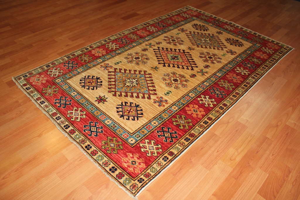 Hand Knotted Kazak Rugs Made In Afghanistan Available