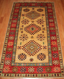 Fine Hand Knotted Kazak Rug from Afghanistan- 160 x 100cm