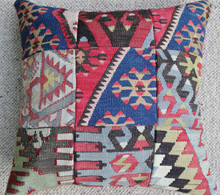 Kilim Cushion - Handmade from Antique Turkish Kilim No.2