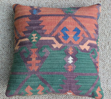Kilim Cushion - Handmade from Antique Turkish Kilim No.11