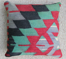 Kilim Cushion - Handmade from Antique Turkish Kilim No.13