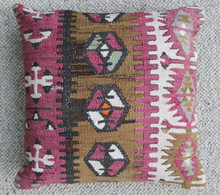 Kilim Cushion - Handmade from Antique Turkish Kilim No.14