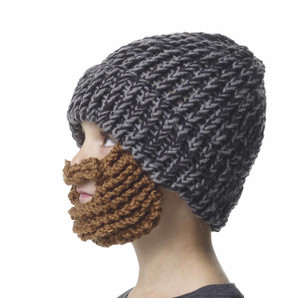 The Original Beard Beanie™Little Man Black and Grey 100% Hand Made