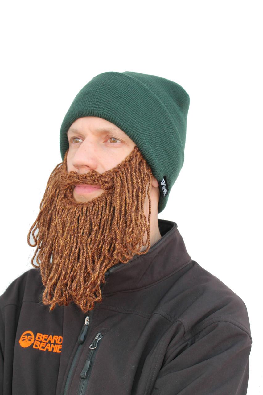 73221d724cb The Original Beard Beanie in Lumberjack Forrest Long Beard