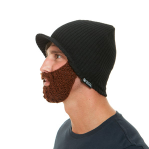 The Original Beard Beanie™ Snowbearder Black