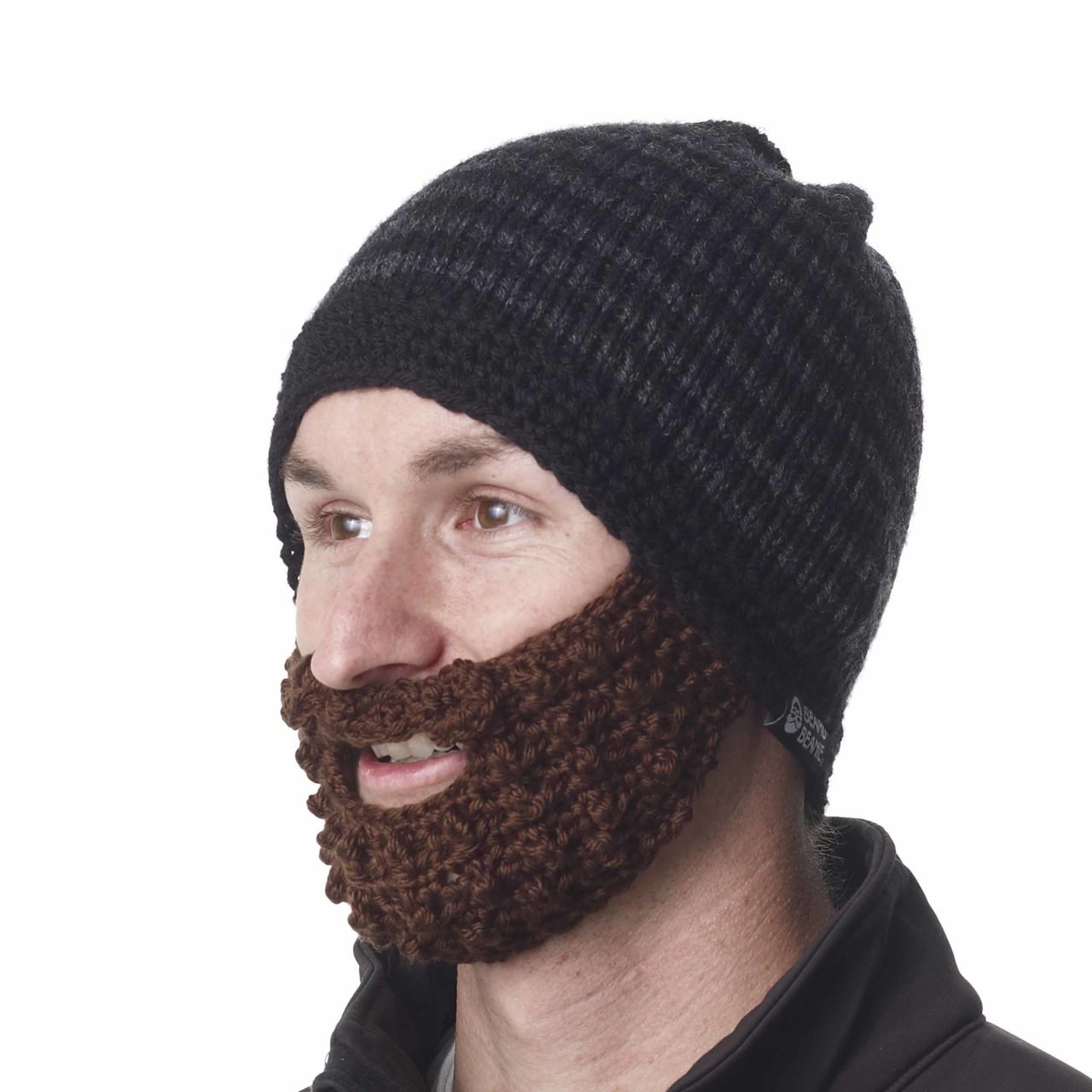 37a173a6b36 ... The Original Beard Beanie™ Charcoal Striped 100% Hand Made. Loading zoom